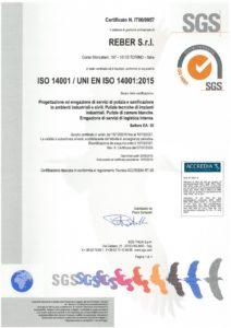 Reber Certificazione ISO 14001